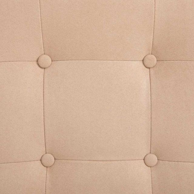 Icaverne - Fauteuils collection Fauteuil inclinable avec repose-pieds Crème Tissu en daim