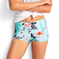 Seafolly - Bas de maillot de bain Short Modern Love Turquoise