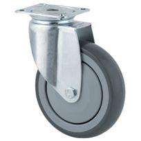 Tente - Roulette Pivotante S17 - Fixation A Platine - Type:Pivotante - Ø roue mm:100 - Haut. mm:135 - Charge kg:80