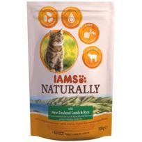 Iams Chat - Iams Naturally Croquette Agneau Nouvelle-Zélande & Riz - Toutes races - 700 g - Pour chat adulte