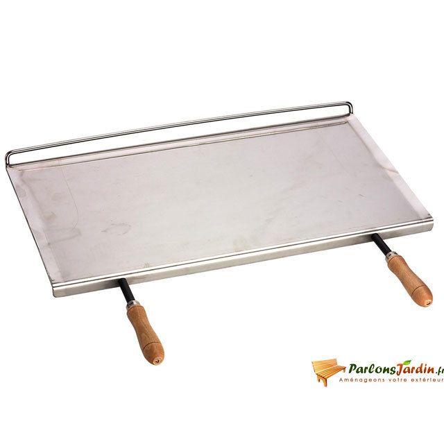 a65558892e254 Delta - Kit plancha en inox pour barbecue à charbon de bois Arles L59cm
