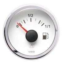 Vdo - Manometre Indicateur niveau essence Viewline - fond blanc - Diametre 52mm
