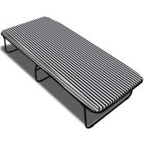 sans marque lit pliant spiral avec matelas 190 x 80 x 40 cm - Lit Double Pliant