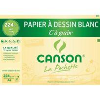 """CANSON - Pochette """"C"""" à grain® - Papier à dessin blanc - A4"""
