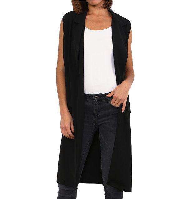 77393ca79060 Cendriyon - Gilet long noir Modern Fashion Taille unique - pas cher Achat    Vente Blouson femme - RueDuCommerce