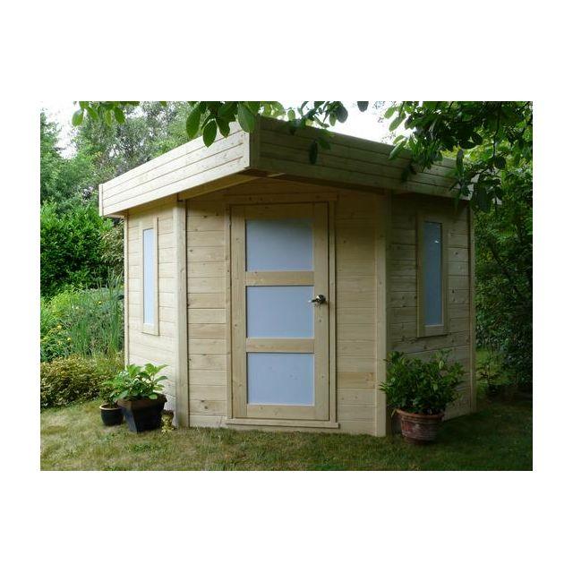 dedans dehors abri de jardin en bois chanzy 6 5 m2 vendu par rueducommerce 386469. Black Bedroom Furniture Sets. Home Design Ideas