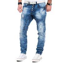 Justing - Jean fashion homme Jean mode 3113 bleu