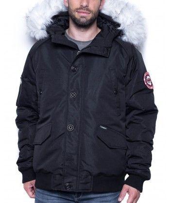 Legenders - Blouson homme hiver noir col fourrure - pas cher Achat ... c354f944816c