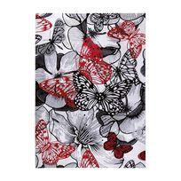 Wecon Home - Tapis Buterfly Kiss rouge par - Couleur - Rouge, Taille - 160 x 225 cm