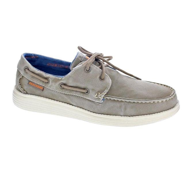 Bateau Homme Status Skechers Modele Pas Chaussures R3Lc54Aqj
