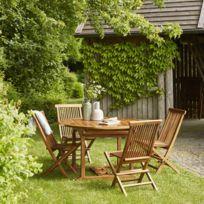Salon de jardin en bois de teck 6 à 8 places