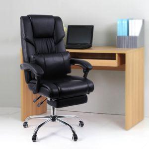 rocambolesk superbe fauteuil de bureau chaise pour ordinateur avec repos pieds pliable dossier. Black Bedroom Furniture Sets. Home Design Ideas