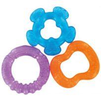 REMOND - 3 anneaux de dentition à rafraichir rouge bleu violet