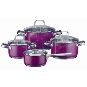 Elo batterie de cuisine inox purple 4 pces tous feux - Batterie de cuisine induction inox ...