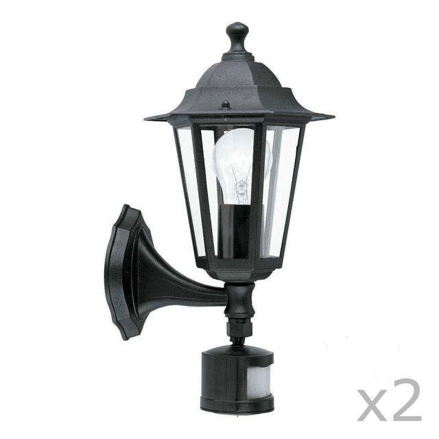 Ext rieur eglo applique for Luminaire exterieur noir