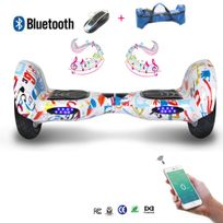 COOL AND FUN - Cool&FUN Hoverboard Bluetooth,Scooter électrique Auto-équilibrage,gyropode connecté 10 pouces Motif design