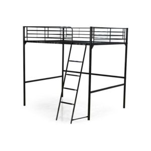 declikdeco lit mezzanine noir 140x190 olive 180cm x 200cm pas cher achat vente ensembles. Black Bedroom Furniture Sets. Home Design Ideas
