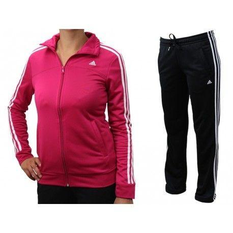 Adidas originals - Ess 3S Knit Suit - Survêtement Femme Adidas - pas ... 08992daed6a1