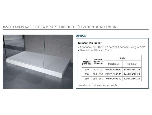 novellini tablier blanc pour receveur de douche. Black Bedroom Furniture Sets. Home Design Ideas