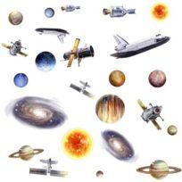 Jomoval - RoomMates Stickers muraux repositionnables Enfant Voyage dans l'espace