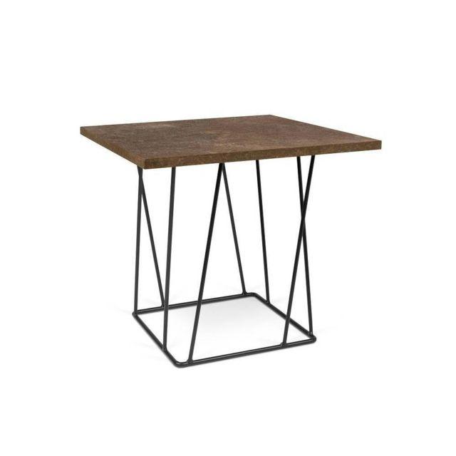 Inside 75 Table basse Helix 50 structure laquée noire