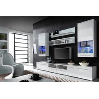 chloe design meuble tv design park blanc - Meuble Entree Design