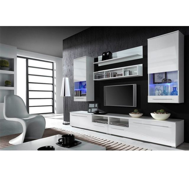 chloe design meuble tv design park blanc pas cher achat vente meubles tv hi fi. Black Bedroom Furniture Sets. Home Design Ideas
