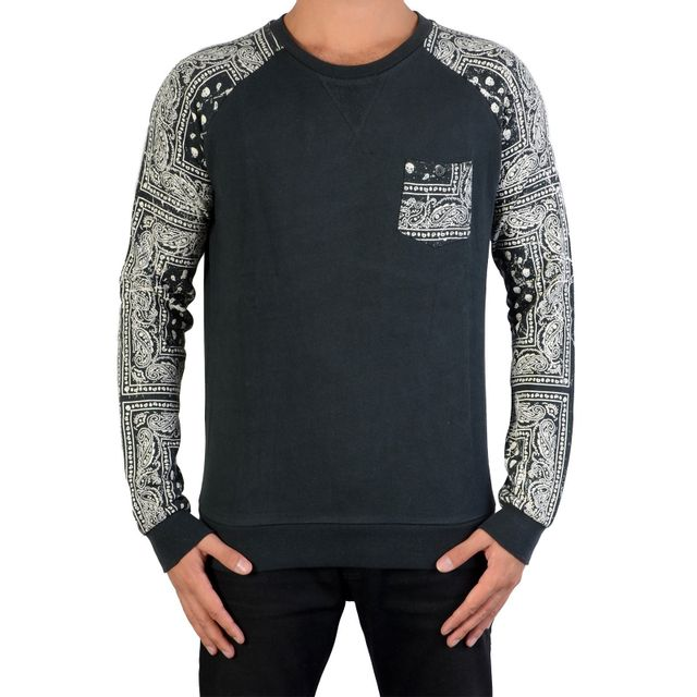 3cdc301081c1 Deeluxe - Pull W15533 Banderas Charcoal - pas cher Achat   Vente Pull homme  - RueDuCommerce