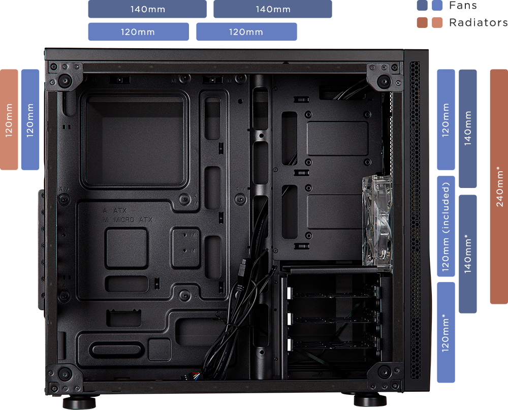 Boitier PC Gamer Carbide SPEC-05 avec fenêtre Corsair Noir