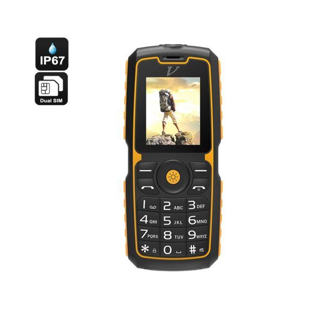 Auto-hightech Téléphone portable robuste étanche, Bluetooth, Double sim lampe de poche, banque d'alimentation, batterie 13000mAh