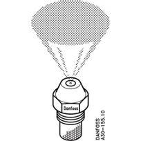 Danfoss - Gicleur type S cône plein débit 0,85 gallons- angle de pulvérisation 80° - 36,20 kw
