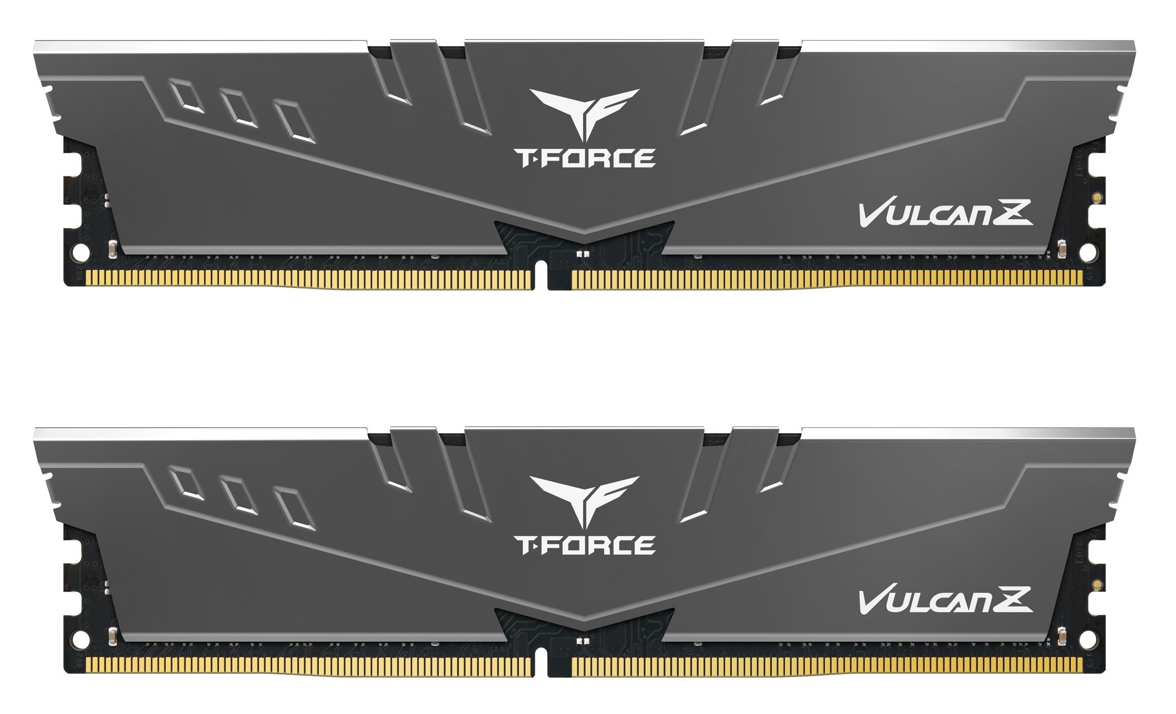 Kit de RAM Vulcan Z 2 x 8 Go DDR4 3200 MHz T-Force Gris