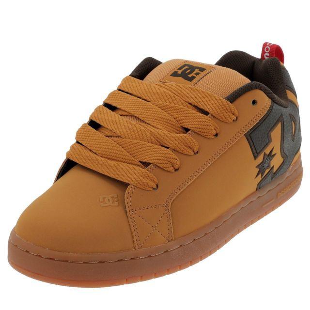 Marron Graffik Dc Skateboard Shoes Court Chaussures Camel txdsQBChro