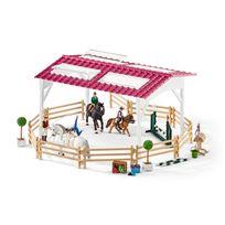 SCHLEICH - École d'équitation avec cavalière et chevaux - 42389