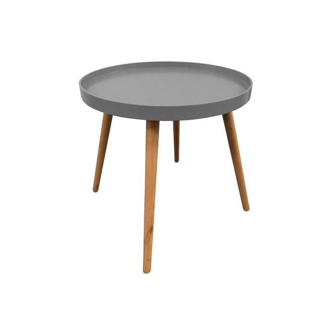 The Concept Factory Table basse grise avec plateau rond