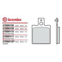 Brembo - Plaquettes de frein organique 07BB0106