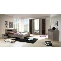 616900cd16e Price Factory - Chambre à coucher complète Dublin adulte design cardiff.  Lit 160x200 cm +