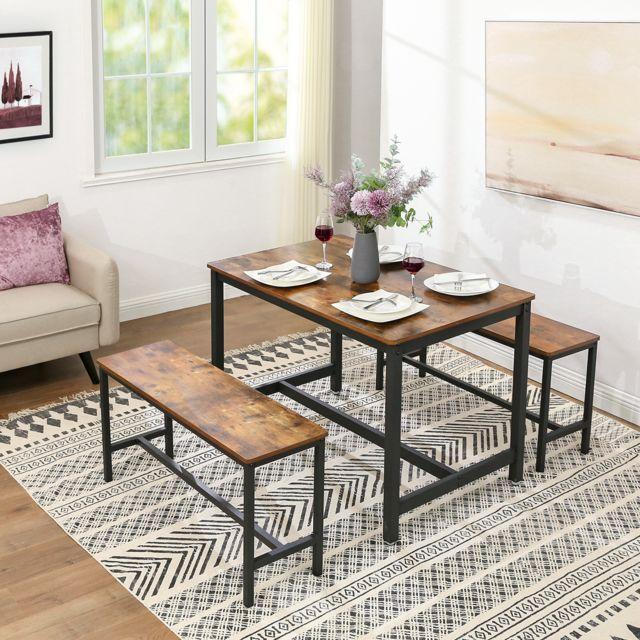 Vasagle Table De Salle A Manger Pour 4 Personnes Table A Diner