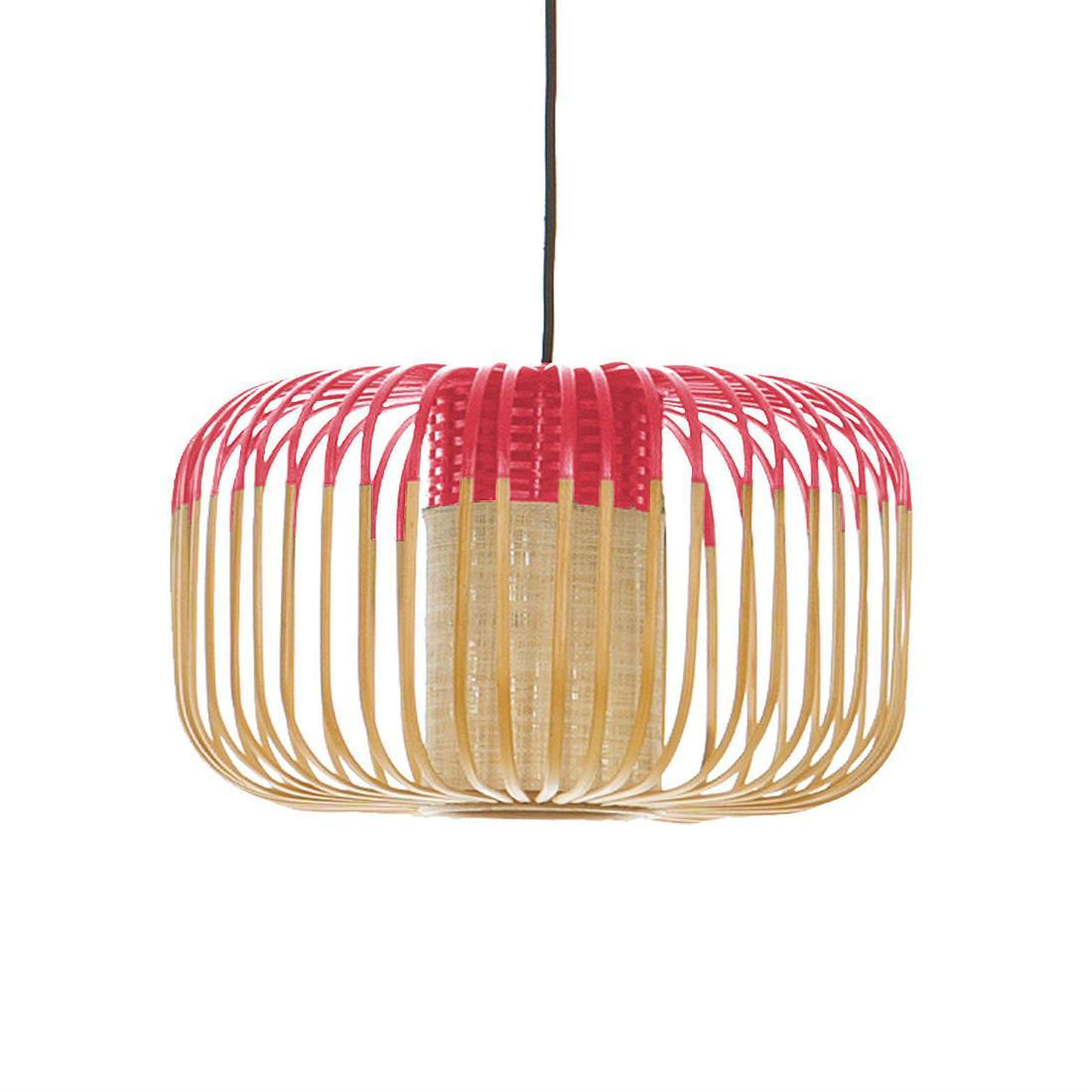 Bamboo - Suspension Bambou/Rouge H23cm
