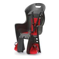 Polisport - Porte-bébés Boodie Rms arrière au porte-bagages noir rouge