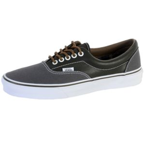 Vans - Basket Era Leather / Plaid, Asphalt / Beluga Gris