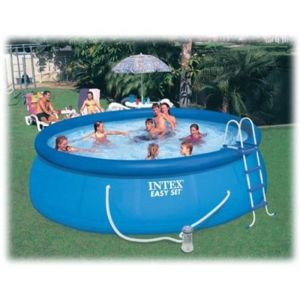 Intex piscine autostable longueur m avec for Carrefour piscinas intex