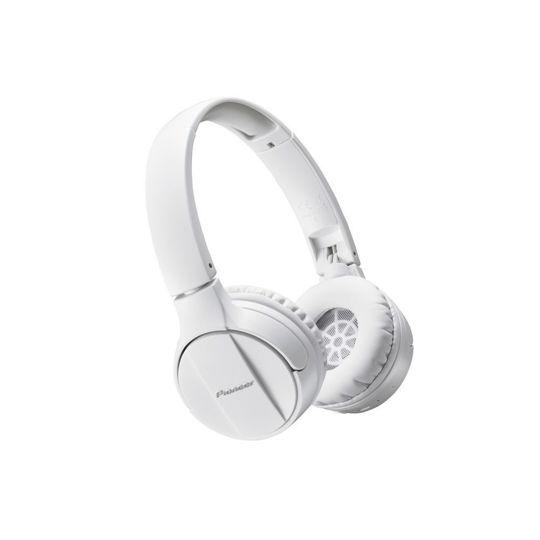 Pioneer Casque Arceau Bluetooth Se Mj553bt Blanc Pas Cher Au