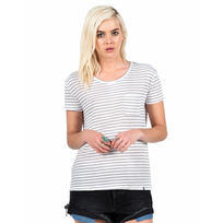 Volcom - T-shirt Lived In Stripe - Gunmetal Grey