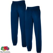 Rocambolesk - Superbe 2 pcs Fruit of the Loom Sweat Pants Ourlet élastique  Bleu marine Xxl