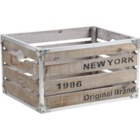 AUBRY GASPARD - Caisse New-York bois et métal