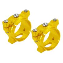 RakonHeli - Support de tube carbone alu jaune Pod 250 - Rakon Heli