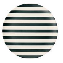 Miss Etoile - Assiette Rayure - Diam. 20 cm - Blanc et Noir