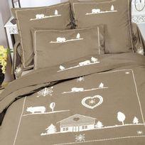 Tradition Des Vosges - Taie oreiller chalet du lac percale 80 fils 65X65