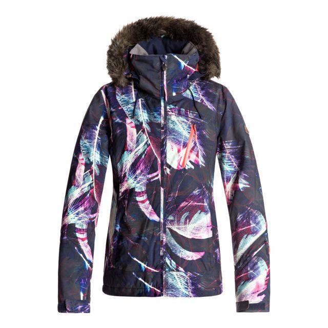 Roxy Veste De Ski Jet Ski Premium Jacket Mauve Pas Cher Achat